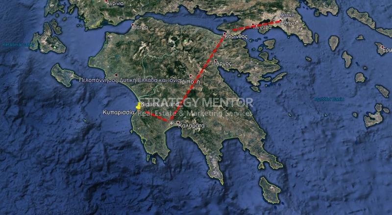 Οικόπεδο 10000 τ.μ. προς Πώληση: Αλιμάκι, Κυπαρισσία, Μεσσηνία